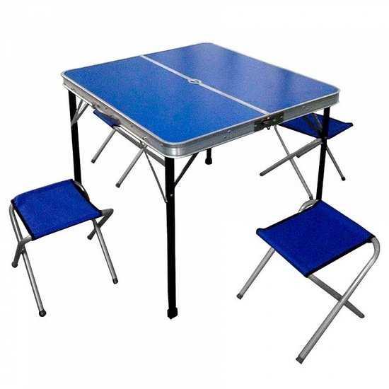 стол складной с 4-мя складными стульями НТО9-0058/5 фото