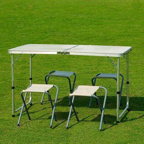 стол складной с 4-мя стульями НТО6-0037/5 фото