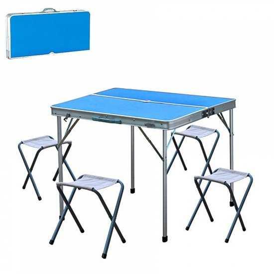 стол складной с 4-мя стульями НТО6-0039/5 фото