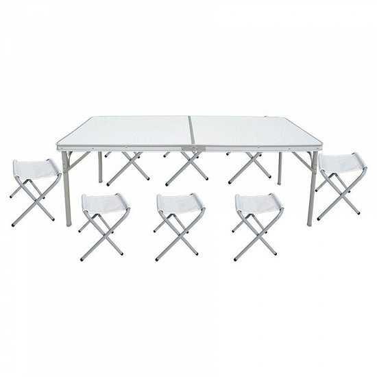 стол складной с 8-ю складными стульями НТО9-0059/9 фото