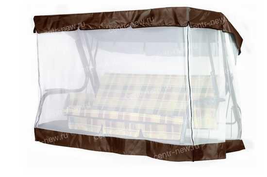 фото Чехол-москитная сетка 2в1 для садовых качелей (с прямой крышей)
