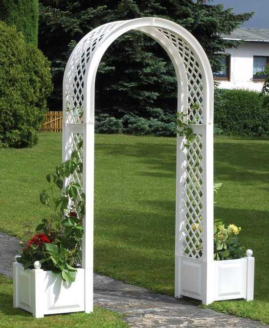 Садовая арка с ящиками для растений 37601 фото