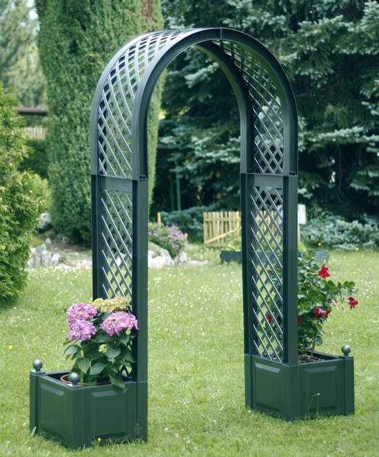 Садовая арка с ящиками для растений 37603 фото