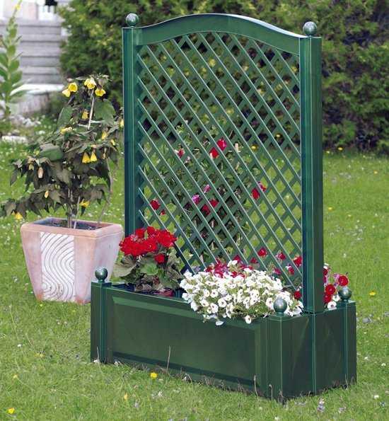 Большой ящик для растений с центральной шпалерой 37103 фото