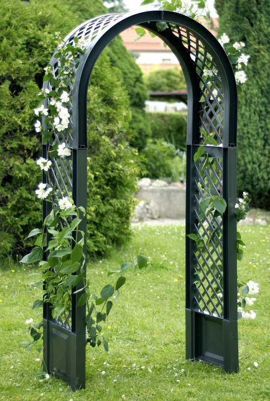 Садовая арка с штырями для установки в землю 37903 фото