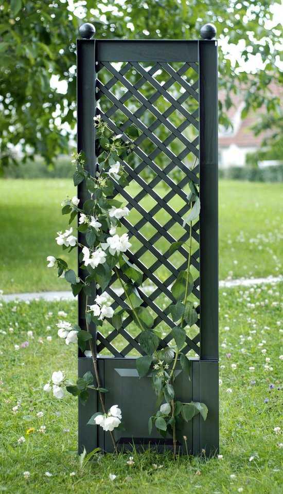 Садовая шпалера с штырями для установки в землю 37803 фото
