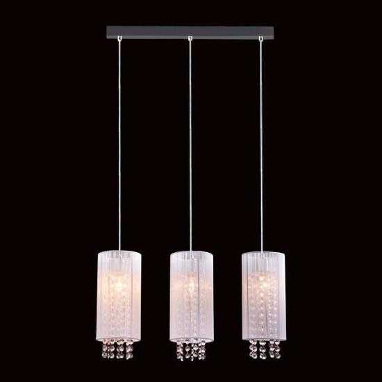 Подвесной светильник с хрусталем 1188/3 хром фото