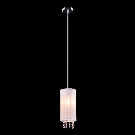 Подвесной светильник с хрусталем 1188/1 хром фото