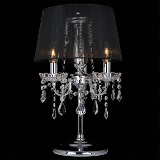 Фото №3 Настольная лампа 2045/3T хром/черный