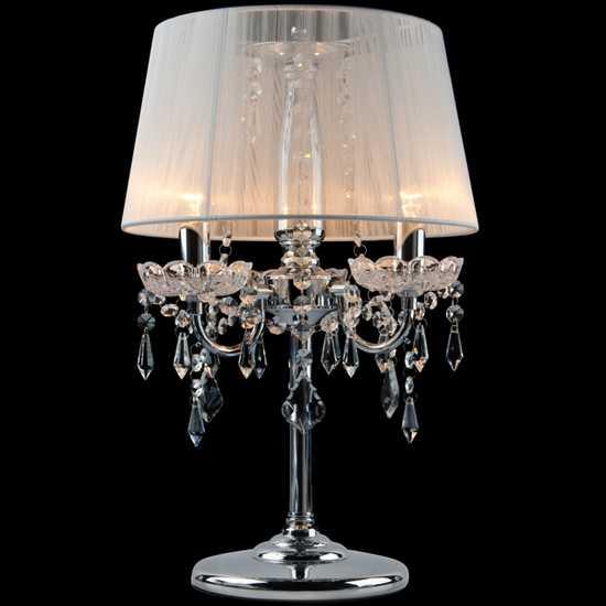Фото №2 Настольная лампа 2045/3T хром/белый