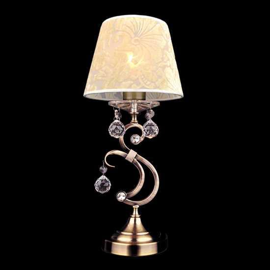 Настольная лампа 1448/1T античная бронза фото