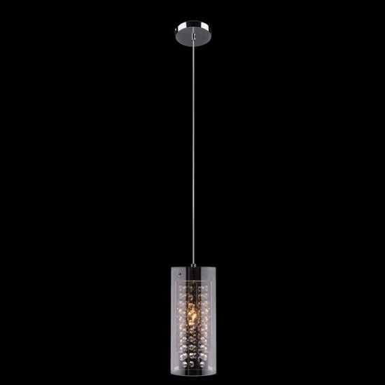 Подвесной светильник с хрусталем 1636/1 хром фото