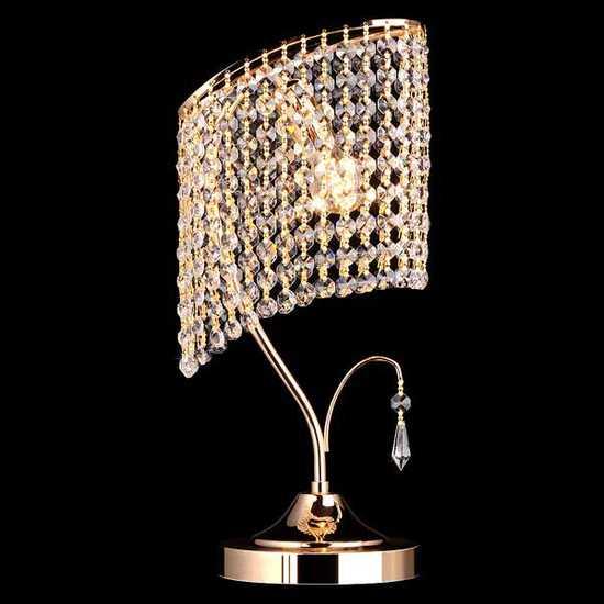 Настольная лампа с хрусталем 3122/1 золото Strotskis фото