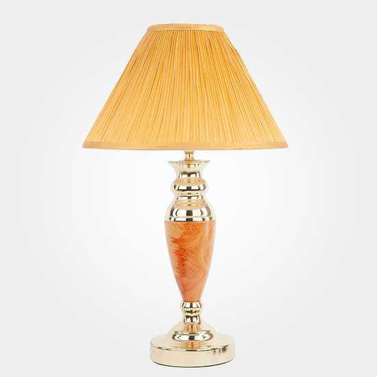 Классическая настольная лампа 008/1T RDM (янтарь) фото
