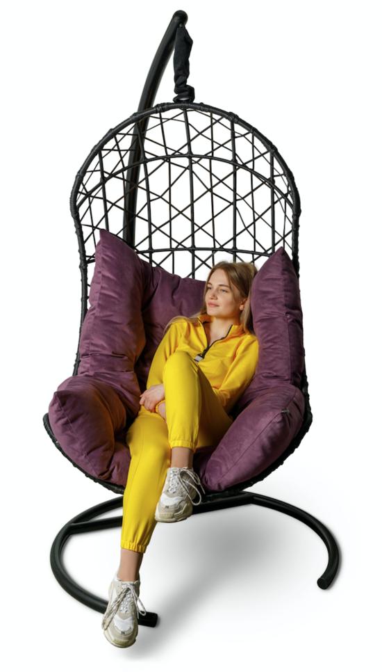 Подвесное кресло-кокон БАРСЕЛОНА + каркас фото