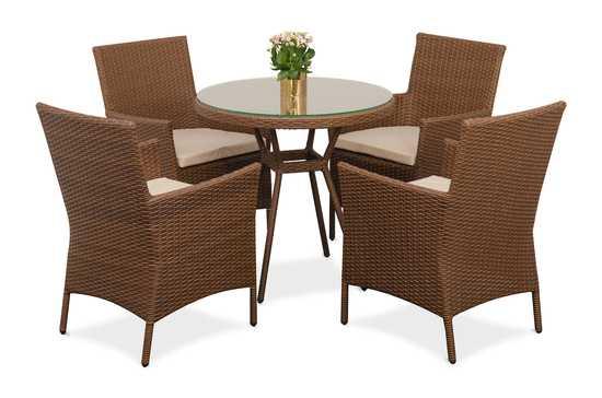 Фото №2 Комплект мебели ПРАГА (круглый стол)