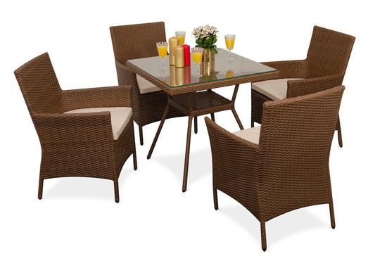 Комплект мебели ПРАГА (квадратный стол) фото