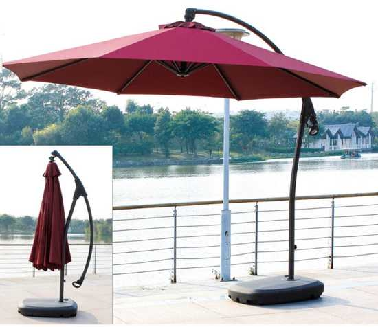 Фото №2 Садовый зонт Garden Way MARSEILLE Бордовый арт. А005