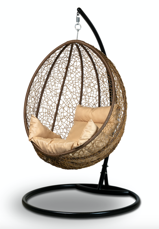 Подвесное кресло-кокон MALAGA + каркас фото