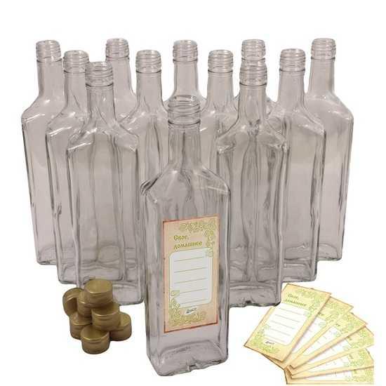 Комплект бутылок ИВА 0,5 л с алюминиевыми колпачками (12 шт.) фото