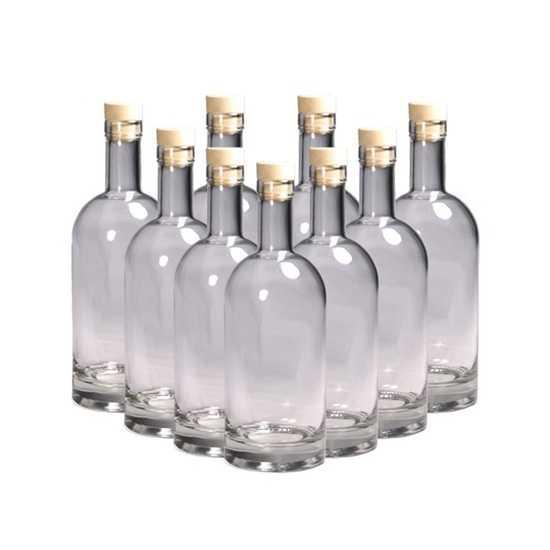 Комплект бутылок ВИСКИ ПРЕМИУМ  0,5 л с пробкой (12 шт.) фото