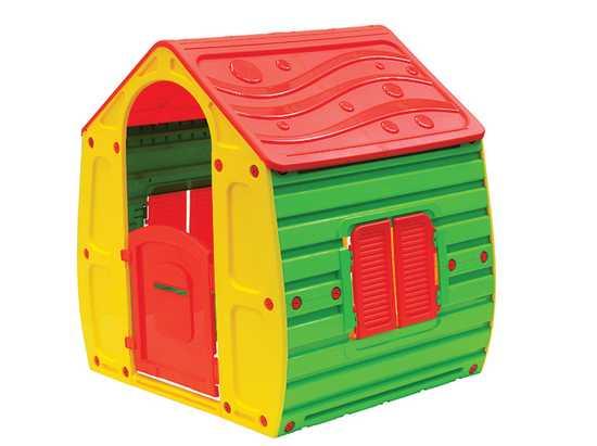 Детский игровой домик (желтый) фото