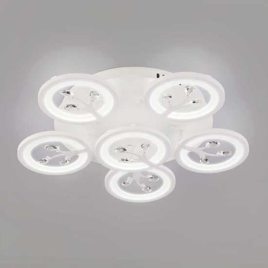 Светодиодный потолочный светильник с пультом управления 90142/6 белый фото
