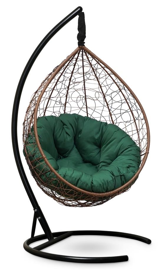 Фото №2 Подвесное кресло SEVILLA VERDE горячий шоколад + каркас