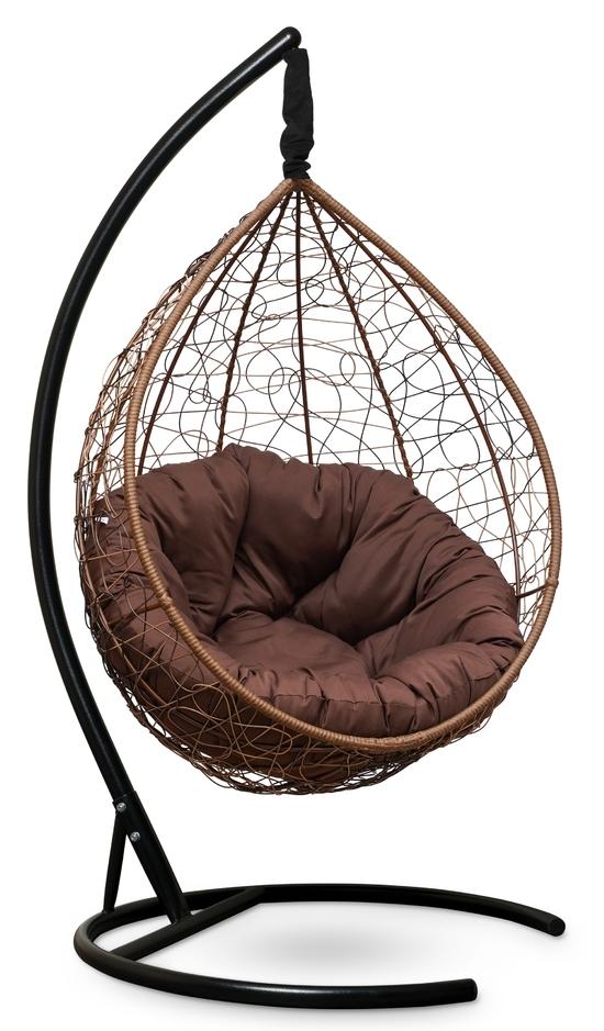 Фото №4 Подвесное кресло SEVILLA VERDE горячий шоколад + каркас