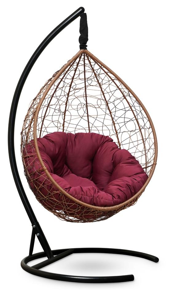 Фото №5 Подвесное кресло SEVILLA VERDE горячий шоколад + каркас