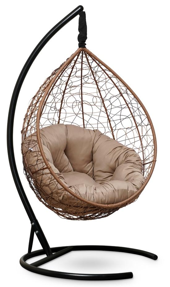 Фото №6 Подвесное кресло SEVILLA VERDE горячий шоколад + каркас