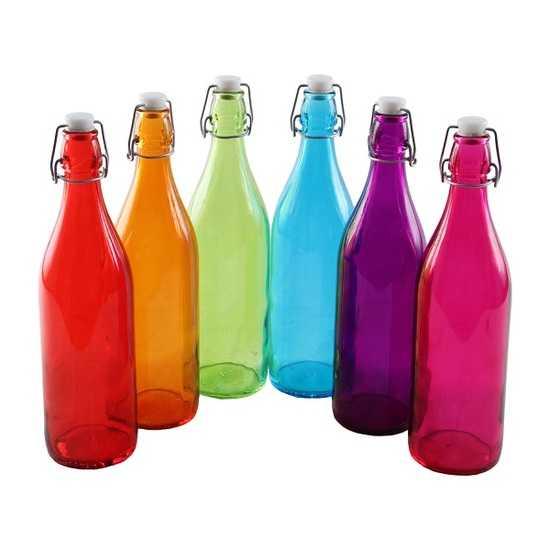 Бутылки «радуга» 1 л (6 шт.) фото