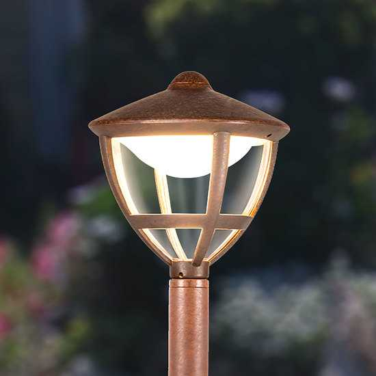Gala F брауни уличный светодиодный светильник на столбе GL LED 3001F фото