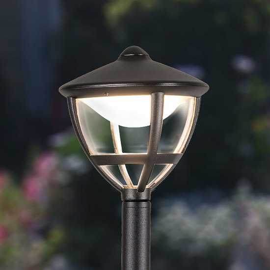 Gala F черный уличный светодиодный светильник на столбе GL LED 3001F фото
