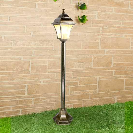 Apus F черное золото уличный светильник на столбе GL 1009F фото