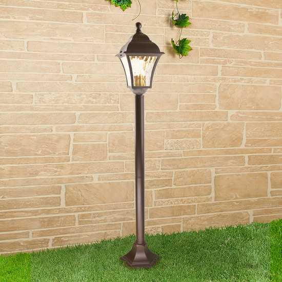 Фото №2 Apus F шоколад уличный светильник на столбе GL 1009F