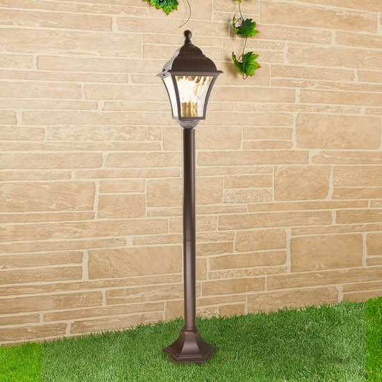 Apus F шоколад уличный светильник на столбе GL 1009F фото