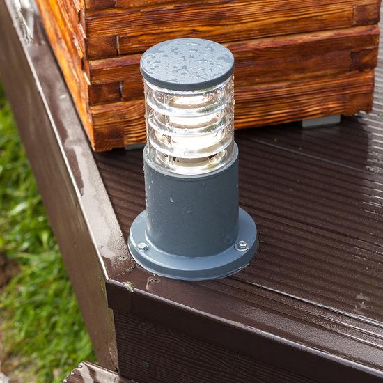 Фото №6 ландшафтный светильник 1508 TECHNO серый
