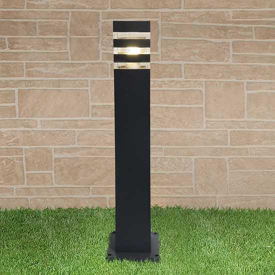 уличный светильник на столбе 1550 TECHNO черный фото