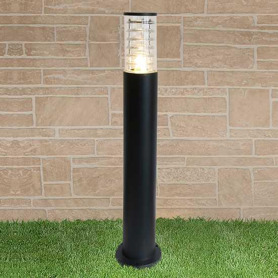 уличный светильник на столбе 1507 TECHNO черный фото