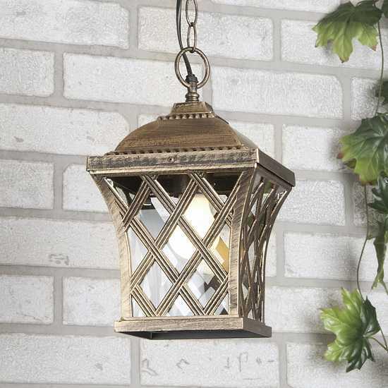 уличный подвесной светильник Cassiopeya H черное золото фото