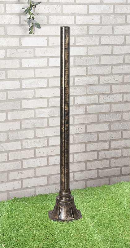 Фото №2 1043 черное золото Столб 120 см для светильника