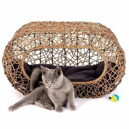 Лежанка-домик для кошки фото