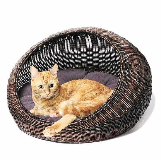 Лежанка круглая для кошки или собаки фото