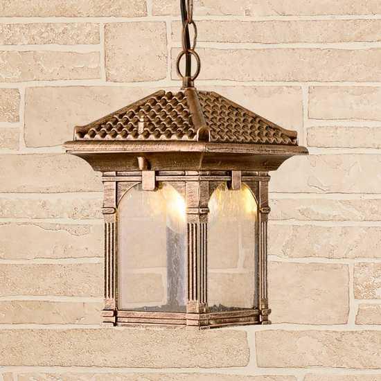 Corvus H черное золото уличный подвесной светильник IP33 GL 1021H фото