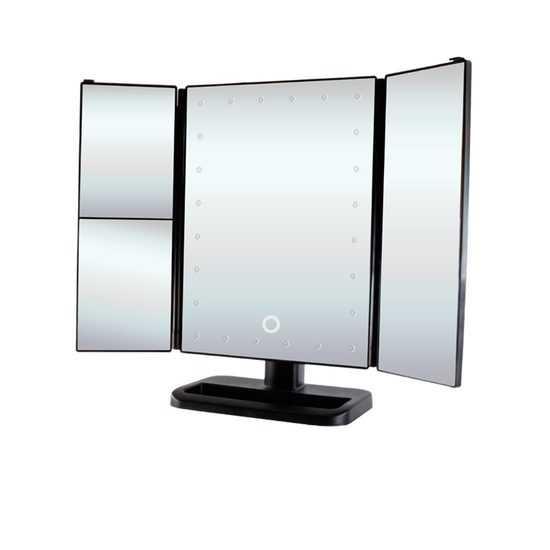 Настольное зеркало uLike для макияжа с подсветкой раскладное, сенсорный экран, 24 LED лампы, GESS фото