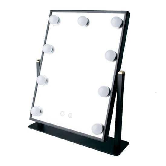 Профессиональное зеркало uLike Maestro для макияжа с подсветкой с холодным и тёплым светом из 9 ламп, сенсорный экран, гримёрное зеркало, GESS фото