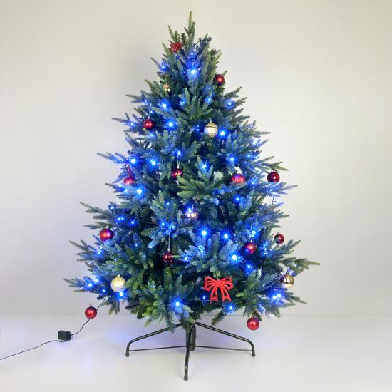 Фото №4 Праздничная гирлянда НИТЬ голубой 5м IP20 400-001