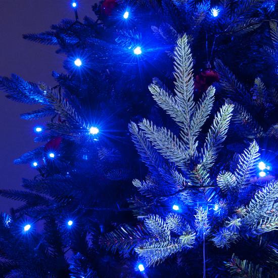 Фото №5 Праздничная гирлянда НИТЬ голубой 5м IP20 400-001