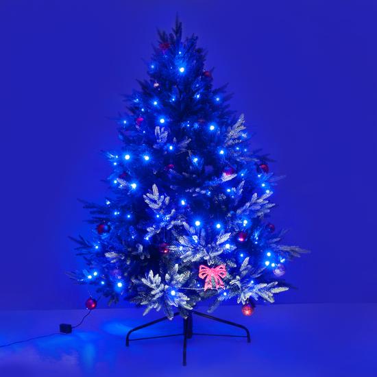 Фото №6 Праздничная гирлянда НИТЬ голубой 5м IP20 400-001